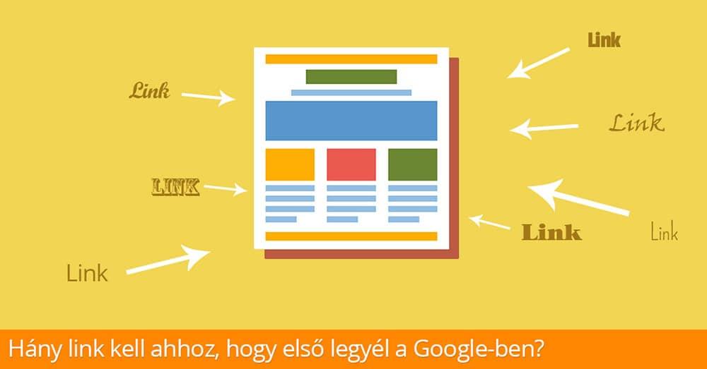 Hány link kell ahhoz, hogy első legyél a Google-ben?